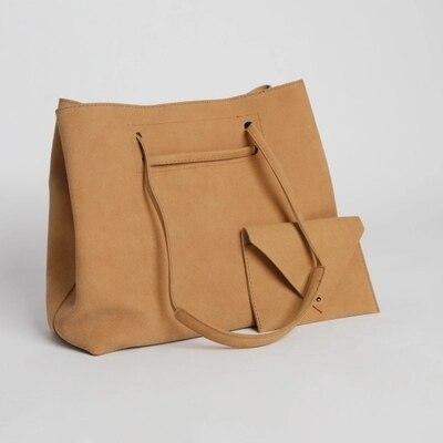 Bolsos Vintage de cuero nobuk para mujer bolsos de moda vintage bolso de mensajero para mujer casual grande bolsa de Asa superior bolsos 2