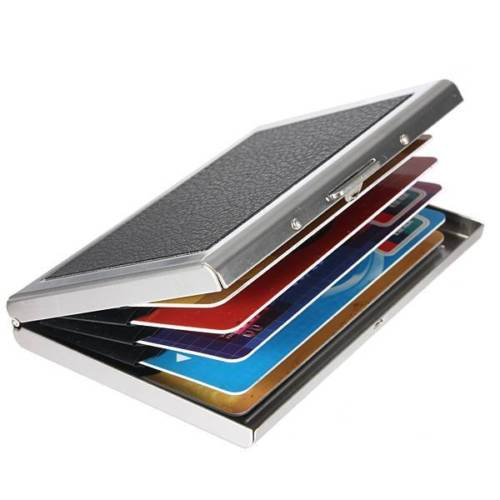 Asds waterproof aluminum pocket wallet business credit card portable asds waterproof aluminum pocket wallet business credit card portable holder case black wholesale card case holder reheart Images