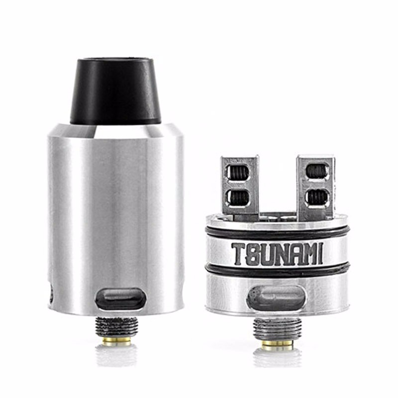 High quality clone Tsunami RDA Adjustable Airflow Atomizer with Velocity style Deck Tank Electronic Cigarette Atomizer