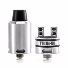 High quality clone Tsunami RDA Adjustable Airflow Atomizer with Velocity-style Deck Tank Electronic Cigarette Atomizer 22mm