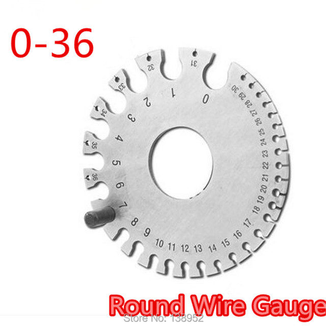 0 36 Round Wire Gauge 2MM Weld Diameter Gauge Welding Inspection ...
