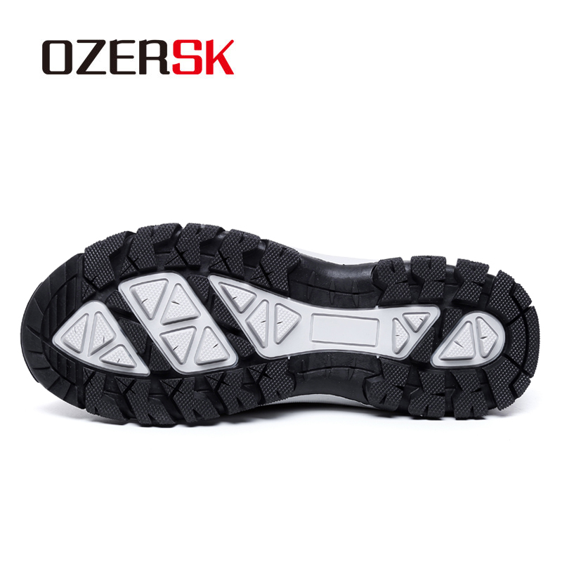 Image 4 - OZERSK Men Shoes Summer Sneakers Breathable Casual Shoes Fashion Slip On Men's Mesh Flats Shoes Walking Shoes Plus Size 39~48-in Men's Casual Shoes from Shoes