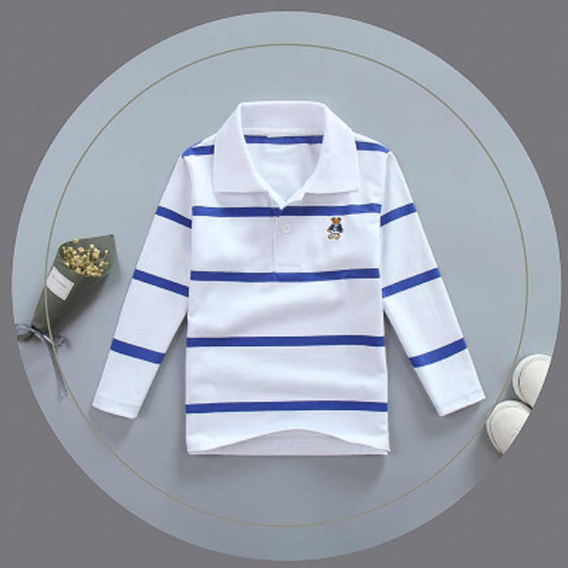 68086264 2018 Fashion Striped Polo Kids 100% Cotton High Quality Breathable Boys  Shirts Long Sleeve Polo