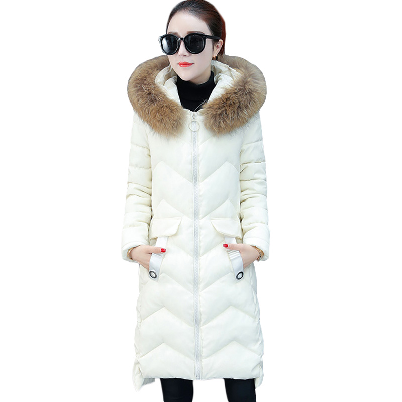 Winter Jacket Women's 2018 New Down Cotton clothes Korean Fashion wild Long section Parka Pad Warm Female Coats Tide ZS557