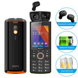"""SERVO R25 2,8 """"мобильный телефон Dual SIM с TWS беспроводные наушники Bluetooth 5,0 мобильный телефон 6000 мАч power Bank GSM WCDMA GPRS"""