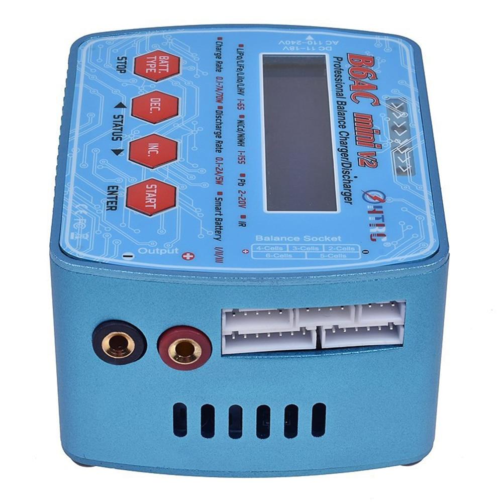 HTRC B6AC Mini V2 70W 7A AC/DC Input Professional Lipo Battery Balance Charger Discharger for Lipo Lihv LiIon LiFe NiCd NiMH B sinairsoft electronic key aeg merf 3 2 for aeg guns battery protection fuse lipo lifepo4 liion nicd m4 ak47