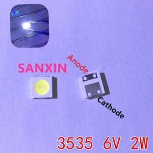 Image 2 - 2W 6V 3535 TV Backlight LED SMD Diodes Cool White LCD TV Backlight Televisao TV Backlit Diod Lamp Repair Application 1000PCS