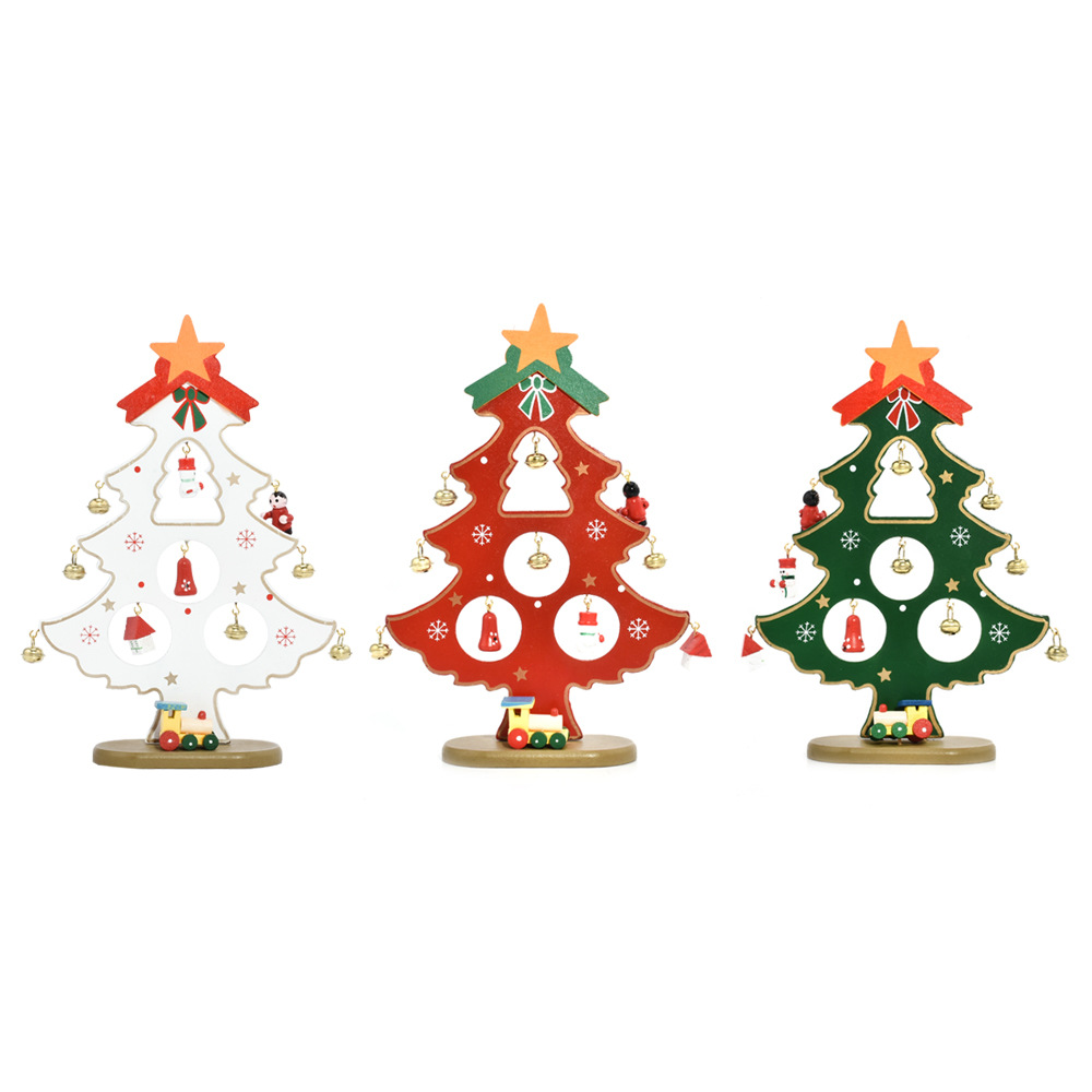 christmas diy wooden decorations bell small christmas tree holiday home decor ornaments navidad christmas pendant gift in pendant drop ornaments from home