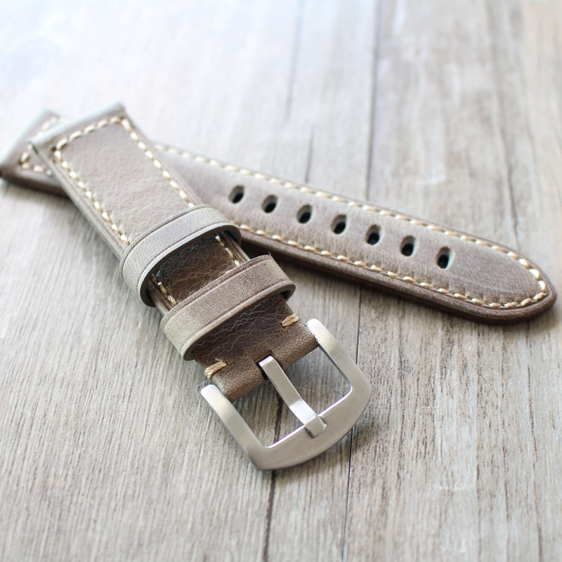 20MM 22MM 24MM 26MM handmade cowhide strap adapter PAM Panerai retro Italian crazy horse leather military men's watch strap eache 20mm 22mm 24mm 26mm genuine leather watch band crazy horse leather strap for p watch hand made with black buckles