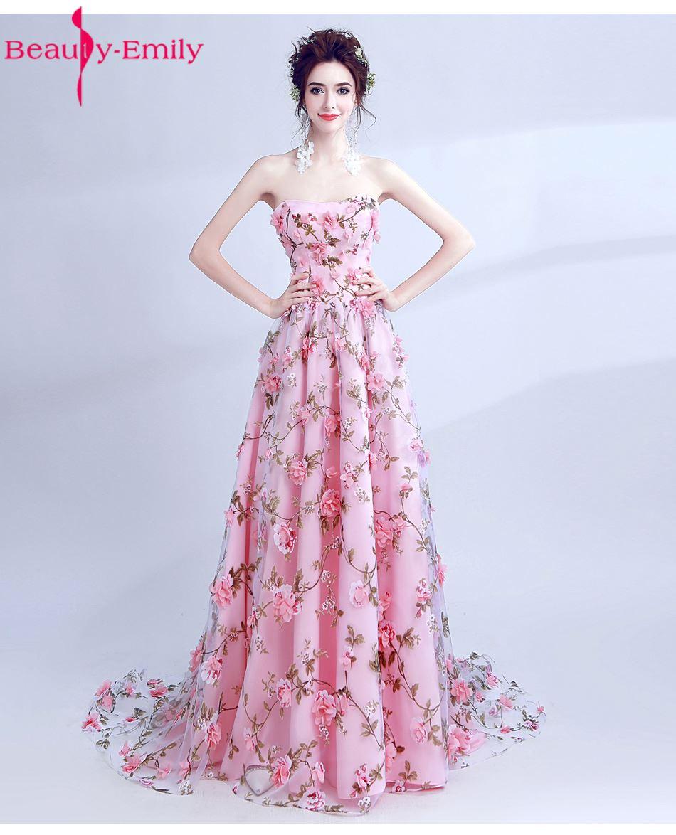 Compra rosa más tamaño vestido formal online al por ...