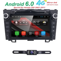 Pure Android 8 2Din Car DVD Audio Player For CRV 2006 2011 With GPS Video USB