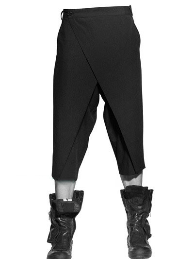 2018 Male capris loose fashion capris personality before the film culottes