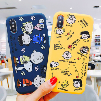 PEANUTS Snoopy Case for iPhone XS MAX X XR Cute Cartoon Phone Silicone TPU Coque Cover sFor iPhone 6 6S 7 8 Plus Cases Etui little book of earrings