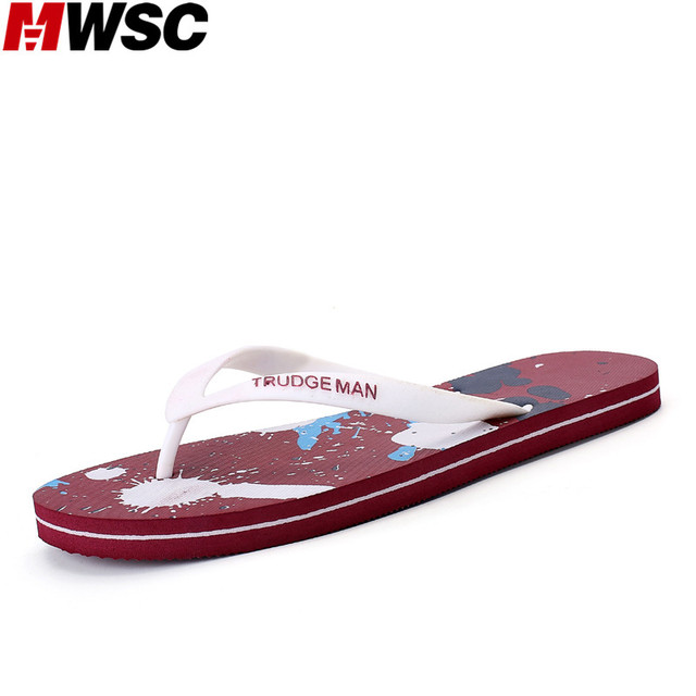 MWSC New Men's Slippers Shoes Multi-color Male 2017 Summer Beach Slipper Water Casual Shoes Flip Flops