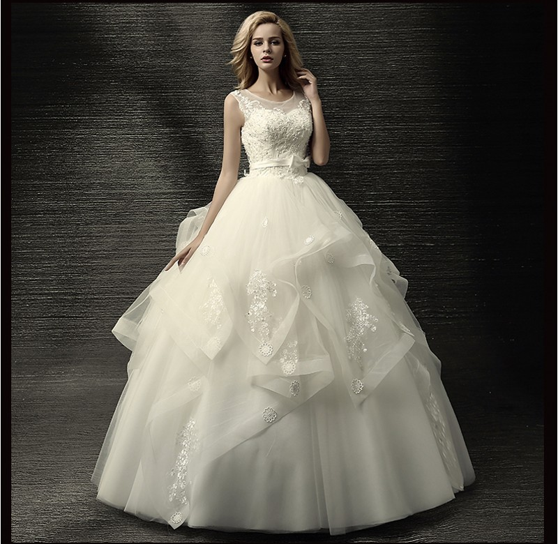 Tiered Wedding Gown: 2017 Romantic Tiered Organza Ball Gown Wedding Dresses