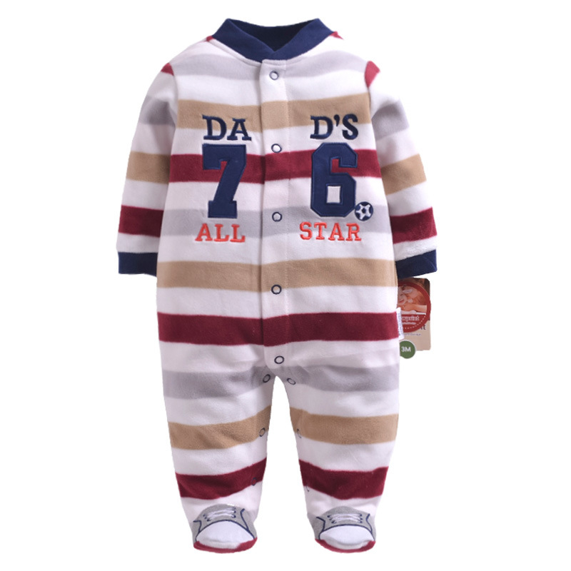 Newborn Fleece Baby Rompers Colorful Baby Boys Girls Clothing Spring Autumn New Born Jumpsuits Roupas Bebes Baby Girls Clothes