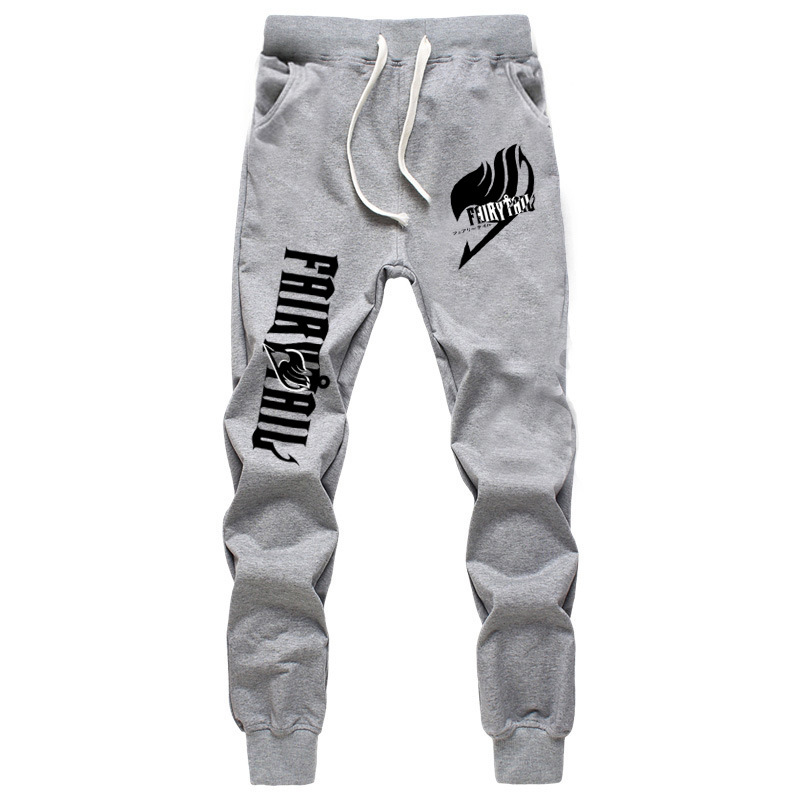 2019 New Fashion Classic Anime FAIRY TAIL Casual Breathable Pants Men Women Jogger Fitness Long High Quality Trousers for Boys