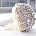 2017 Crystal Bridal Bouquet  Wedding Flower Accessory Hand Holding Buque Noiva Ramo De Flores Novia High quality Brooch