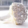 2017 de Cristal de Noiva Buquê de Flores Do Casamento Acessório Mão Segurando Ramo De Flores Buque noiva Novia Alta qualidade Broche