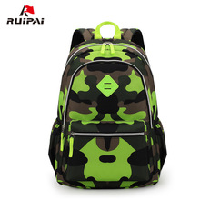 RUIPAI Boy Kids Backpack Polyester Camouflage Orthopedic School Backpack Schoolbag For Pupils Boys Satchel Backpack Military