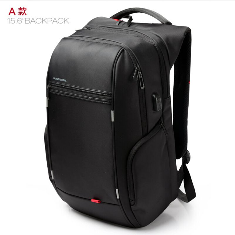 Kingsons Brand External USB Charge Computer Bag Anti-theft Notebook Backpack 15.6 inch Waterproof Laptop Backpack for Men Women fashional brand external usb charge anti theft backpack oxford bag for women 15 6inch waterproof laptop backpack with rain cover
