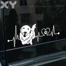 Golden Retriever-pegatinas de perro para decoración de coche, pegatina para ordenador portátil, para motocicleta (amarillo/blanco plateado), 15