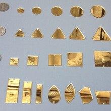 30 шт золотистого цвета акриловый пришивные стразы с отверстиями смешанные формы разные размеры Акриловые Плоские зеркальные бусины