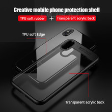 Ultra Thin Silicone Transparent TPU & PC Full Cover Cases For iphone 8 7 6 Plus 6S