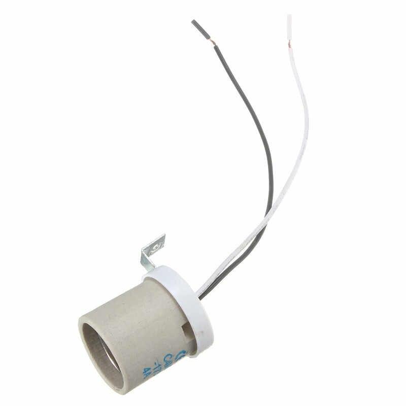 E27 Lampholders Lamp Base Socket Wire Ceramic Heat Lamp Fitting Base Light Bulb Lamp Holder Converter