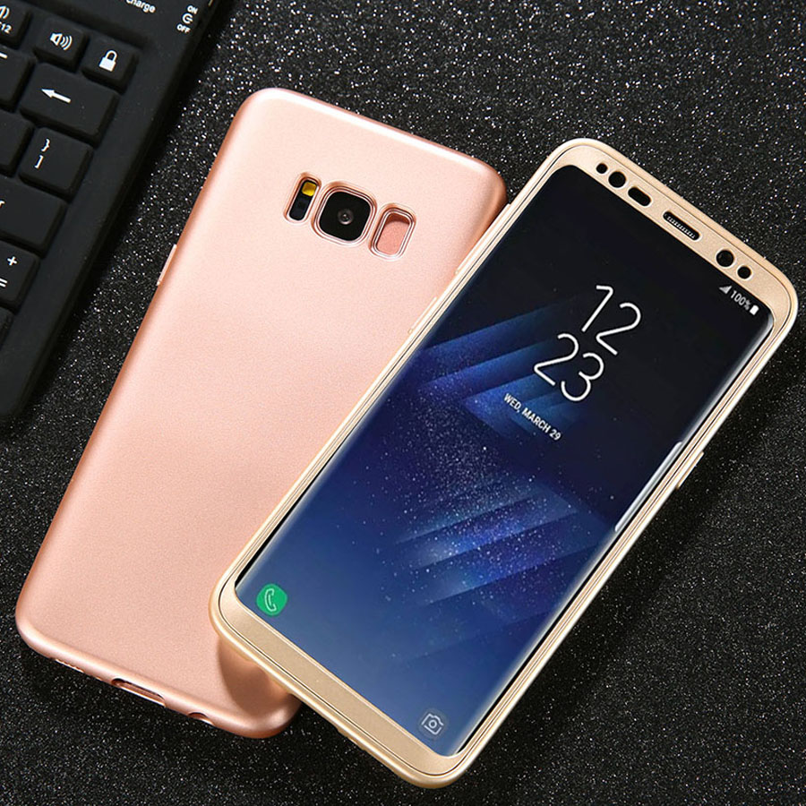 Luxury 360 Case For Samsung Galaxy S8 S8 Plus Cover Ultra thin 2 in 1 Removable Shockproof Armor Phone Cases Soft TPU Funda Capa