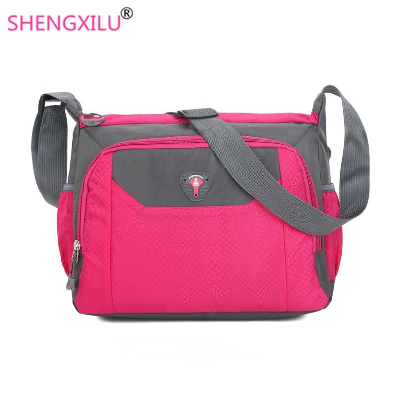 New Shengxilu women cossbody bags candy color brand girls shoulder bags fashion big lady messenger bag travel casual handbags messenger bag