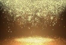 Laeacco Photo Backgrounds Glitter Golden Polka Dots Light Bokeh Stage Celebration Kids Portrait Backdrop Photocall Studio