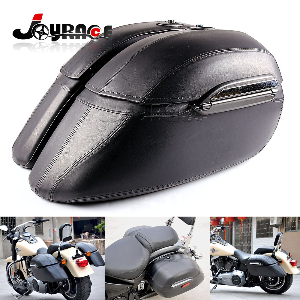 Универсальный черный седельная сумка кронштейн магистрали Чемодан мотоцикл