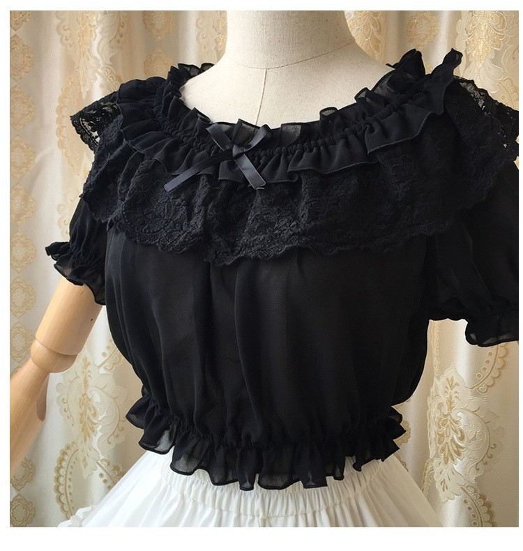 16 New Women Tube Top Loyal Princess Lace Embroidery Ruffled Puff Sleeve Ruffle Basic Vintage Tube Tops White Black Pink Red 6