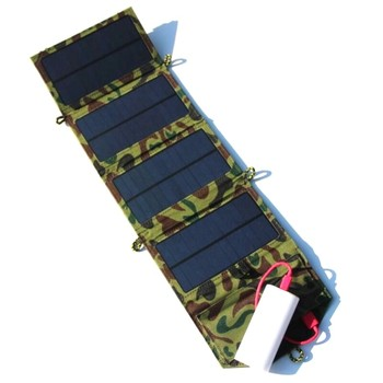 BUHESHUI 7W Solar Charger Foldable Solar Panel Charger Traveling Solar Power Supply  Solar Mobile Charger 100pcs/lot Wholesale