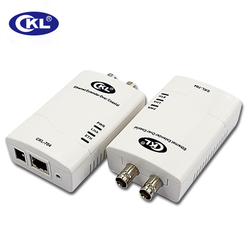 CKL-704 0-3KM Rj45 Ethernet Extender IP Data & CCTV  Transmission Over Coaxial Or Twisted-Pair Cable