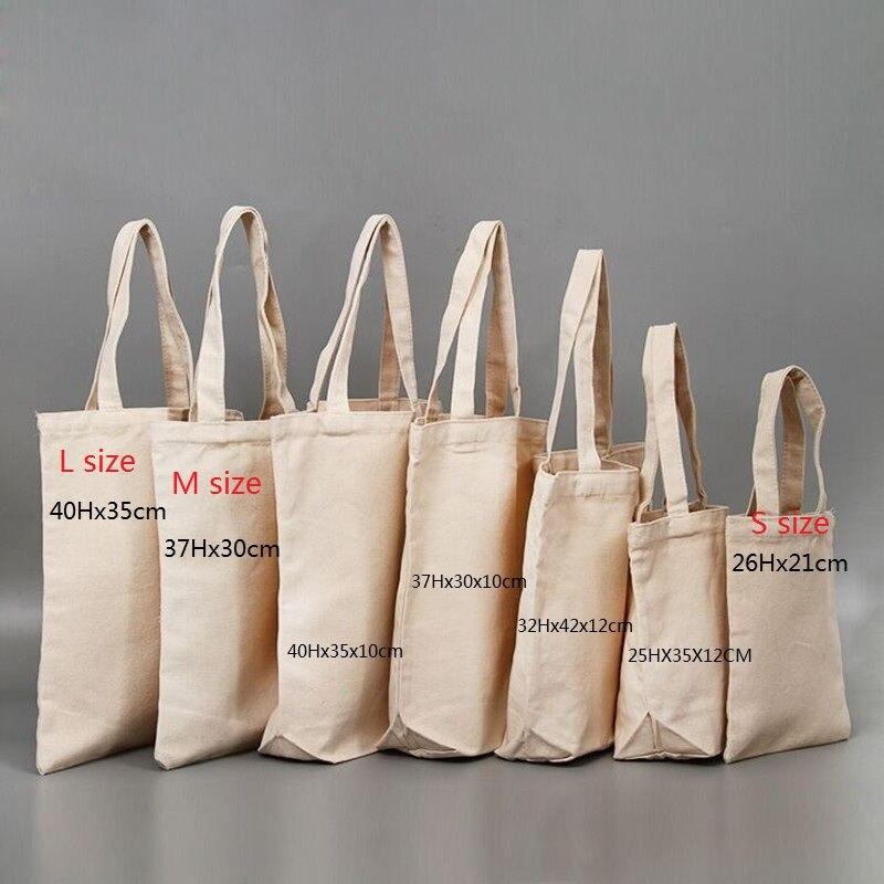 Großhandel 100 pcs/lot Weniger MOQ Custom Natürliche Recycling Leere Baumwolle Einkaufstasche Organische Contton Leinwand Tote Tasche für kleidung/Anzeigen-in Einkaufstaschen aus Gepäck & Taschen bei  Gruppe 1