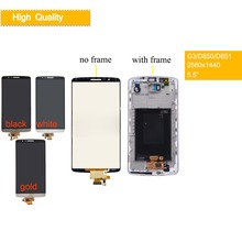 10Pcs/lot ORIGINAL Display for LG G3 LCD Touch Screen Digitizer with Frame Screen for LG G3 LCD Display D850 D851 D855 D855 D858 grey lcd display with touch screen digitizer panel assembly complete for lg g3 d855 d850 replacement free shipping