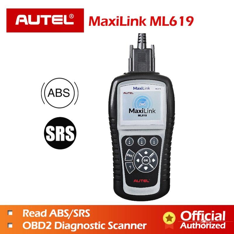 Autel MaxiLink ML619 OBDII Code Reader for ABS/SRS System Automotive Scanner Turns off Warning Light like Autolink AL619