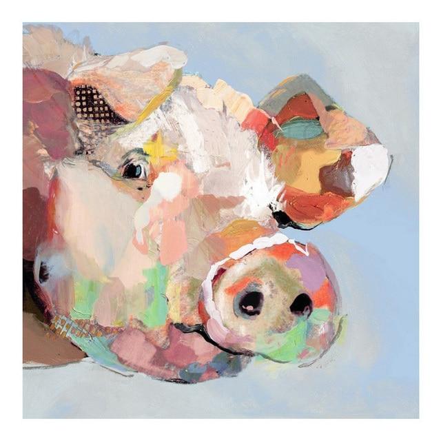 aliexpress : handgemalte abstrakte tiere Ölgemälde auf, Wohnzimmer