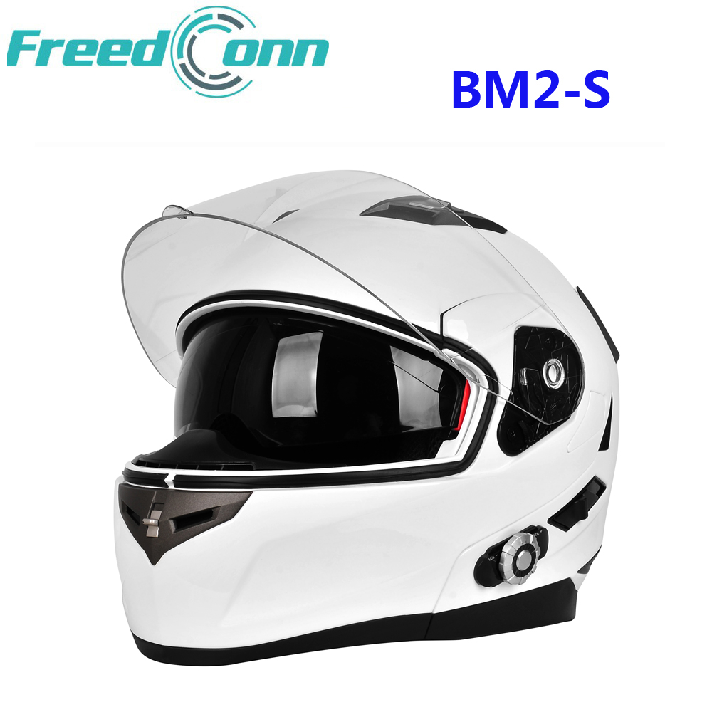 FreedConn BM2 S Smart Bluetooth Motorcycle Helmet Built in Intercom System Dot Standard Helmet 3 Riders