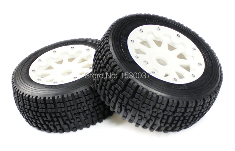 high strength nylon Rear wheel X 2 tire assembly for 1 5 Scale KM RV HPI