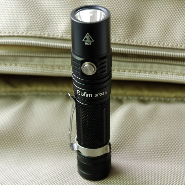 Sofirn New SP32A Powerful LED Flashlight 18650 Cree XPL2 1500lm High Power Two Groups Light Torch Stepless dimming no battery