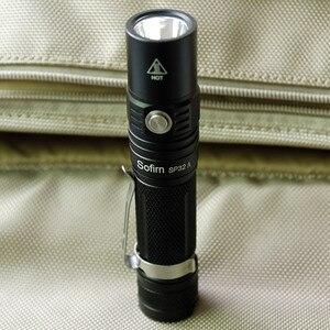 Image 3 - Sofirn חדש SP32A עוצמה LED פנס 18650 קריס XPL2 1500lm מתח גבוה שתי קבוצות אור לפיד Stepless עמעום אין סוללה