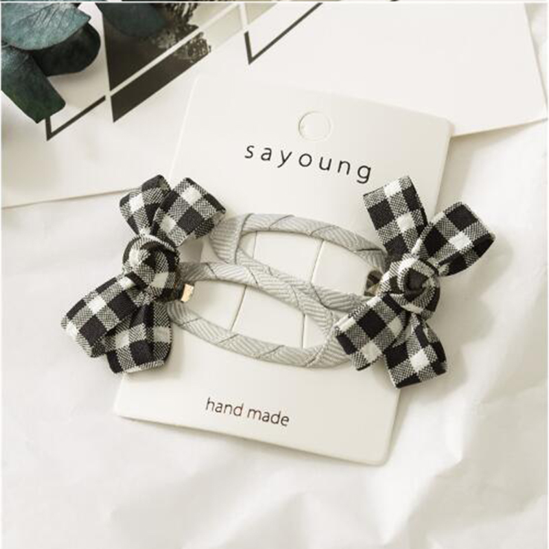 2019 creative new bow hairpin children 39 s baby card card Liu seaside clip hair accessories student hair accessories single in Hair Accessories from Mother amp Kids