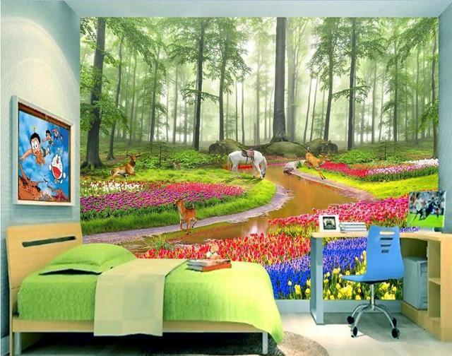 Custom foto d kamer behang non woven muurschildering dromerige
