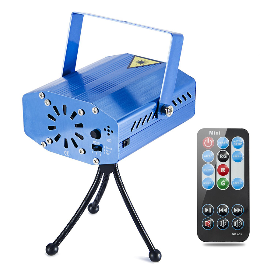 LED Projector Laser Lights Sound Activated Auto Flash Led Stage Lights for DJ Disco Party Home Show Birthday with Remote Control rg mini 3 lens 24 patterns led laser projector stage lighting effect 3w blue for dj disco party club laser