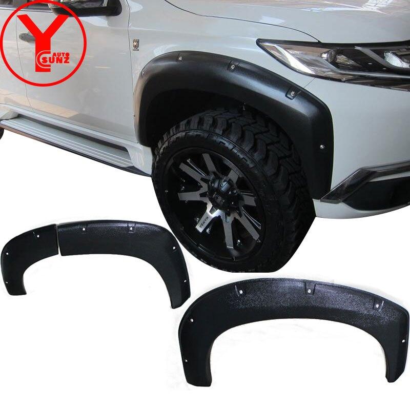 Текстурированная Черная вспышка fender Для MITSUBISHI Montero sport pajero shogun 2016 2017 2018 mudguard, аксессуары для стайлинга автомобиля YCSUNZ