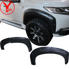 Текстурированный Черный уширитель крыла для MITSUBISHI Montero sport pajero shogun 2016 2017 2018 крыло автомобиля средства укладки волос YCSUNZ