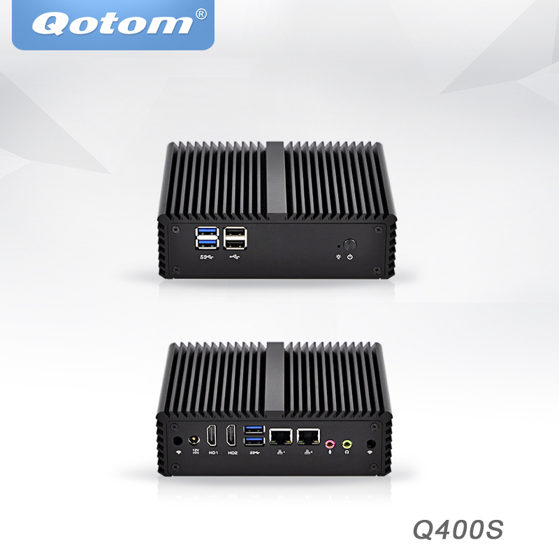 Qotom Mini PC Intel Core I3 I5 I7 Industrial Micro PC Barebone System Dual Core Dual Lan Pfsense Desktop Mini Computer X86
